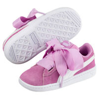 Puma Vikky Ribbon Ac Ps Baskets Enfants Filles Chaussures en Cuir 367640 02