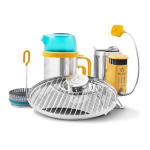 Biolite CampStove2+ Camping Cooking Stove USB Charger Kettle Grill Bundle 2021