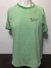 Vtg 70s University Oregon Champion Shirt XL Blue Bar Striped Green White Ringer