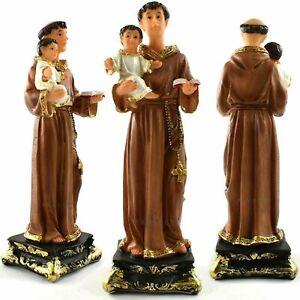 "SAINT ST ANTHONY with BABY JESUS STATUE 5"" RESIN FIGURINE Catholic Gift Church"