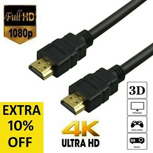 Heavy Duty 4K HDMI 2.0 Cable High Speed Lead Smart Ultra HD 3D TV 1m 2m 3m