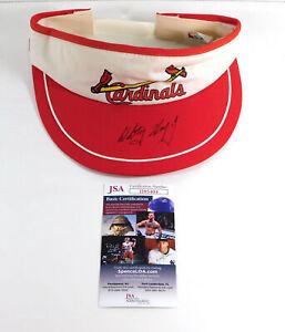 Whitey Herzog Signed Cardinals Visor JSA Auto DA037690