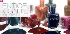 Zoya Fall 2014 Entice & Ignite Collection Nail Polish Choose Your Colors!