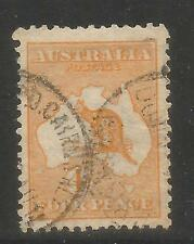 Australia 1913 Kangaroo/Map 4p orange--Attractive Topical (6) used
