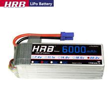 HRB 22.2V 6S 6000mAh LiPo Battery 50C-100C EC5 for T-REX 700L 800 Heli UAV Buggy