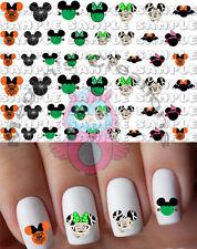 Halloween Mickey & Minnie Nail Art Decals Set of 45 decals