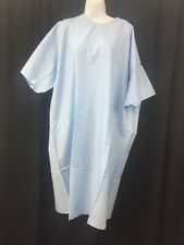 NEW LOT OF 2 BELLE & BEAU Durable Press Universal Size Hospital Gown Light Blue
