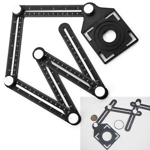 Universal Alumium Alloy Angularizer Ruler Multi Angle Measuring Template Tool UK
