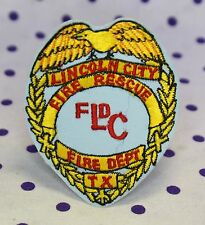 Lincoln City Texas Fire Department Rescue Patch Badge Embroidered Houston LCFD