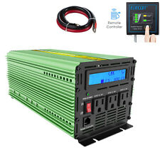 1000W 2000 Watt Pure Sine Wave Inverter 12V dc 110V 120V ac LCD Car Truck Tent