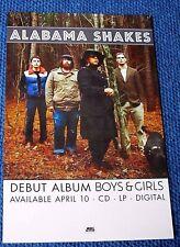 Alabama Shakes Promo Poster 2-sided ~ Debut Album Boys & Girls