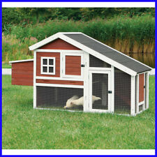 [No Tax] Trixie Dark Brown & White Chicken Coop with a View, Cage