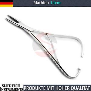 Neu Nadelhalter Mathieu 14 cm Ligaturen KFO Orthodontic Zahnspange Needle Holder