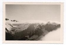 PHOTO ANCIENNE Chaîne des Aiguilles Massif du Mont Blanc 1961 Montagne Nuage