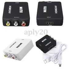 Mini 1080P Composite HDMI to AV 3 RCA CVBS S-Video Converter Adapter For HDTV