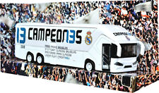 Real Madrid Bus 21 cm Opening Doors Pull Back & Go miniature jouet voiture cl en plastique