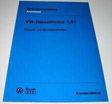 Betriebsschulung VW Diesel Motor 1,5 Liter Einstellungen Montagearbeiten 1976!