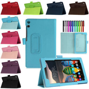 """For Lenovo Tab 4 7"""" 8"""" 10.1"""" Tablet Magnetic Flip PU Leather Stand Case Cover"""