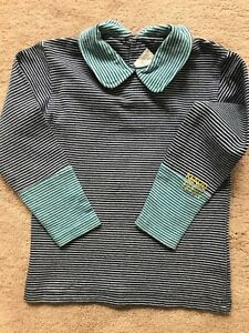 Kenzo Jungle VTG Boy Toddler Striped 97% Cotton Made in France Sweater Sz 4