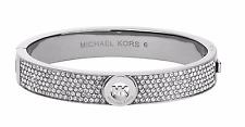 NWT Michael Kors MKJ3999040  Fulton Pave Silver-Tone Bangle Bracelet $145.00