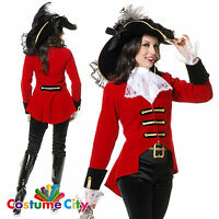 Adult Womens Page Boy Pirate Lady Buccaneer Fancy Dress Halloween Party Costume