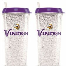 Minnesota Vikings CRYSTAL FREEZER TUMBLER 16 oz (LCT115) Set of 2