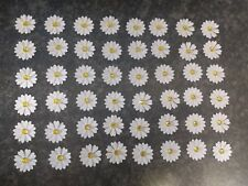 50 double white DAISY FLOWER CARD MAKING,#37,CRAFT EMBELLISHMENTS, job a lot