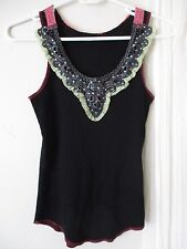 Women's Summer Tank Top Lace Rhinestone boho hippy S Mix Match cute