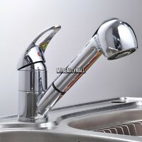 New Pull-Out Spray Faucet Chrome Single Lever Swivel Spout Kitchen Sink Faucet
