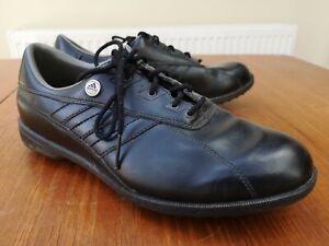 Golf Shoes Adidas EVN 791 BLACK Burgundy Leather UK Size 7 24hr Postage