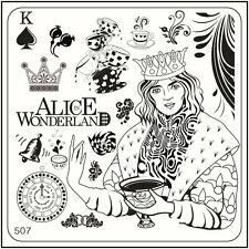 MoYou Nail Fashion Stamping Nail Art Image Plate 507 Alice Style Mad Hatter