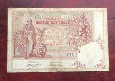 Belgique - Très Rare et Joli billet de 20 Francs du  08-07-1909