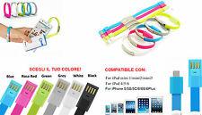 Bracciale ricarica iPad Mini e iPhone 5,5s,5c,6,6 S. Cavo USB braccialetto USB