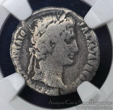 Augustus 27BC-14AD silver Denarius NGC VG8 Ancient Rome Gaius Lucius Variant.