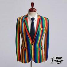 Mens Suits Blazer Floral Printed Slim Fit Coats Dress Formal Tops Design Jackets