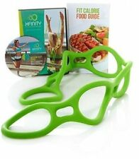 Xfinity Fitness Resistance Exercise Band Adjustable 2 Workout DVD with Meal Plan