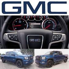 Stone Blue Metallic GMC Steering Wheel Emblem Vinyl Decal 2014-2018 Sierra Yukon