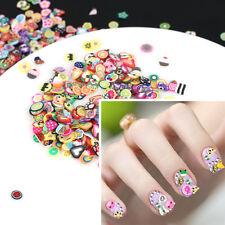 1000pcs Fai da Te Nail Art Tips Fimo Decorazione Fiori Frutta CLAY ADESIVI Adorabile Hot
