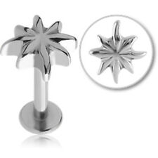 NEW Surgical Steel Flower Labret Aussie Seller Free Delivery