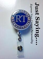 RT Radiologic Technologist (X-Ray, CT, MRI)   ~ Retractable Reel ID Badge Holder