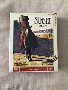 """New York Puzzle Co.  -  """"Desert Rider"""" - 1000 piece Jigsaw Puzzle NEW"""
