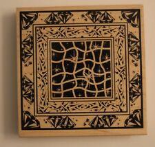 "Diamonds & Sparkles Pattern Club Scrap Limited Edition 2001 4.75"" Rubber Stamp"