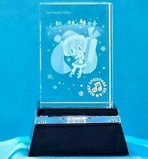 Chibi Hatsune Miku Project Diva F LED Light Crystal Art Pedestal SEGA1010734 USA