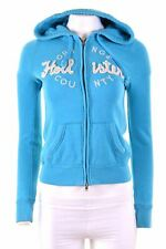HOLLISTER Womens Hoodie Sweater Size 6 XS Blue Cotton Loose Fit  DB05