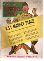 CHILTON'S MOTOR AGE Magazine January 1957 vintage advertising, infinity cover