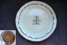ancien plat ou grande assiette en faïence de Rouen Cul noir XVIIIe siècle