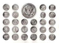 1910 Estampado ~ Nacional Estado & Territorial Sellos De Unidos America