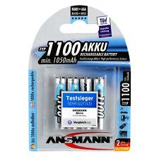 4 Stk Ansmann AAA Micro Akku HR03 1,2V 1050mAh NiMH Schnell Ladefähig