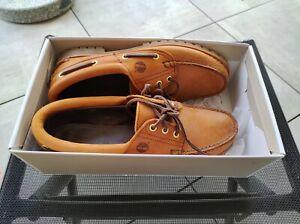 Neuwertig.Timberland Heritage Noreen 3-Eye Boat Shoes Gold Damen Gr. US 9.5