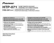 Pioneer HTP-071 Home Theater Package Owners Manual
